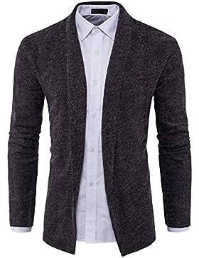 Sau sulla Comunità e in stile americano a maglia maglione maglione grigio scuro ,XL uomini.