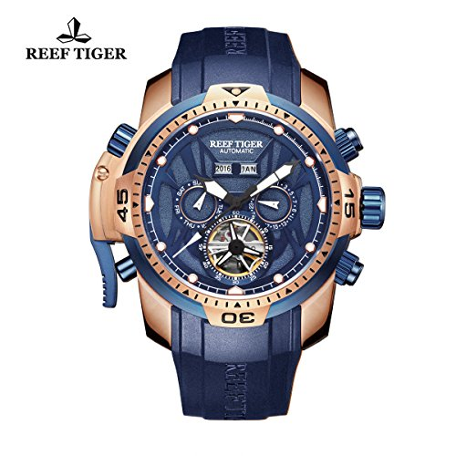 Reef Tiger uomo sport luminoso complicato orologio automatico RGA3532