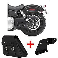 Satteltasche 11L für Harley Dyna Street Bob schwarz links