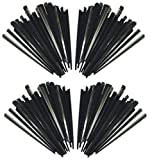 #10: e-STORES Plastic Disposable Stirrers, (Triangle Shape) Set of 100, Black
