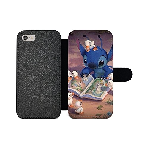 gspstore iPhone 6/iPhone 6S Geldbörse Fall, Lilo & Stitch Disney Cartoon Pattern Flip PU Leder Wallet Fall mit Kartentaschen für iPhone 6/iPhone 6S, Color 20