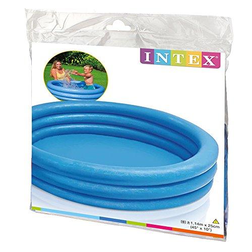 Intex Kinderpool 3-Ring-Pool Crystal 59416NP, Blau, Ø 114 x 25 cm -