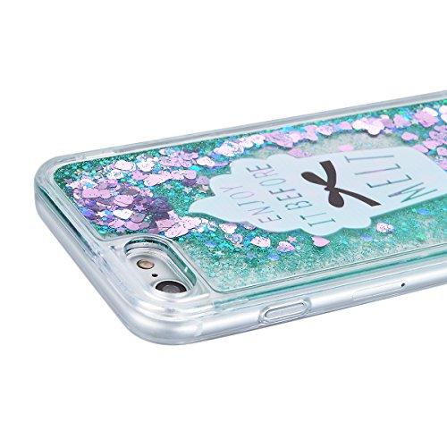 Coque iPhone 6S Liquide Sables Mouvants , We Love Case Bling Glitter Cœur Paillettes Rose Coque pour Apple iPhone 6 / 6S Etui Bumper Dynamique Eau Coque en Plastique Dur Étui de Protection Sparkle Bri Liquide 02