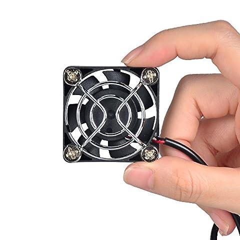 ELUTENG Ventilateur USB 40mm refroidissement Mini Ventilateur 5V USB Fan PC portable et puissant pour PC Ordinateur PlayStation PLA Xbox ou l'Eau