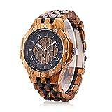 BEWELL ZS w116 C legno orologio da uomo al quarzo data giorni Display Chiesa quadrante orologio...