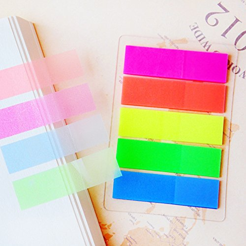 200 pcs Fluorescence Sticky Notes Memo Flags Post Bookmark Marker Tab Stickers Test