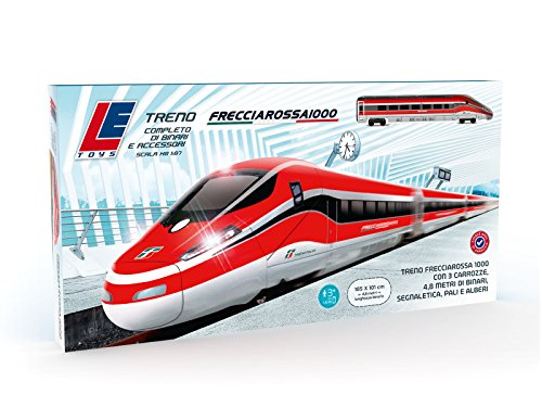 Le toys- pista treno frecciarossa 1000 batteria, colore rosso, let13203