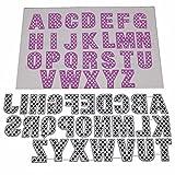 Lazzboy Fustelle Natale Scrapbooking Metallo Stencil Paper Card Craft per Sizzix Big Shot/Altre Macchine(E, 26 Lettere)