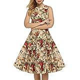 Women's Vintage Dress 1950's Hepburn Floral Party Skater Dresses
