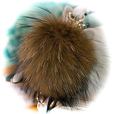 Furry Friends - Llavero, Brown Latte / Beige 18cm,