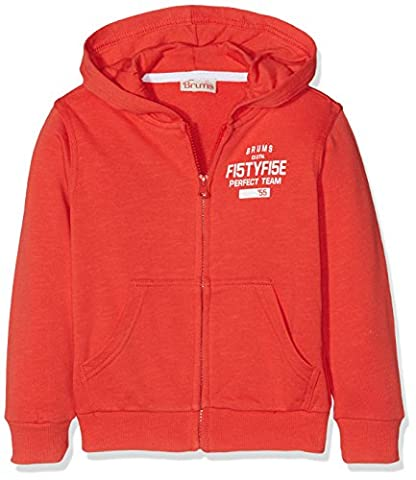 Brums 171BFFC008, Sweatshit à Capuche Sportswear Garçon, Rosso (Rosso Medio
