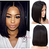 Perruque Femme Naturelle Brésilien SMHair Glueless Short Bob Perruque Femme Naturelle Lace Front Wigs Human Hair Pre Plucked Délié Naturel with Baby Hair 130% density 25.4CM=10inch