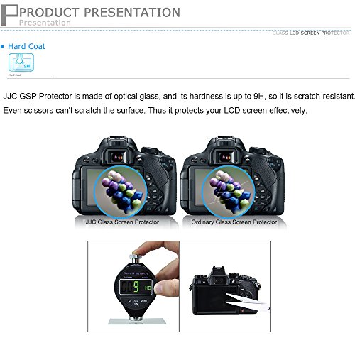Cubierta LCD de vidrio óptico JJC GSP-LX100 Para Panasonic DMC LX100 LX100 FZ85 II,