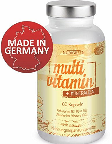 Nurigreen Multivitamin Tabletten Hochdosiert Vegan a-z Komplex Vitamine & Mineralien - Multimineral...