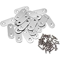 100 X CORNER BRACE OVAL END SS STAINLESS STEEL 40 x 40 x 17 x 3mm