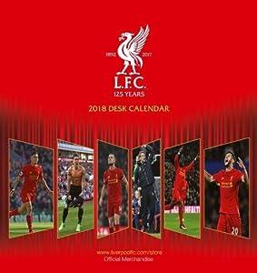 Liverpool F.C Official Desk Easel 2018 Calendar - Month To View Desk Format (Desk Easel Calendar 2018) by Danilo