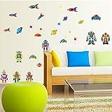 Cortina Space Theme Wall Sticker (Vinyl, 46 cm x 5 cm x 5 cm, 7023)