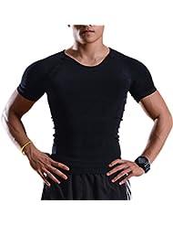 Body Shaper para hombre - IMAGE Hombres Shaper para hombres - Chaleco para adelgazar para abdomen Cinturón de vientre para bajar de peso - Camisa de compresión para perder (X-Large)