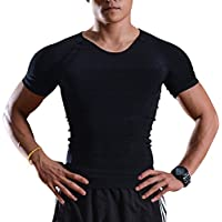 IMAGE Débardeur Gainant T-Shirt Amincissant - sous-Vêtements Masculins pour Hommes - Gilet pour Perdre du Poids Ventre & Reins avec Couture Fort de Haute Qualité