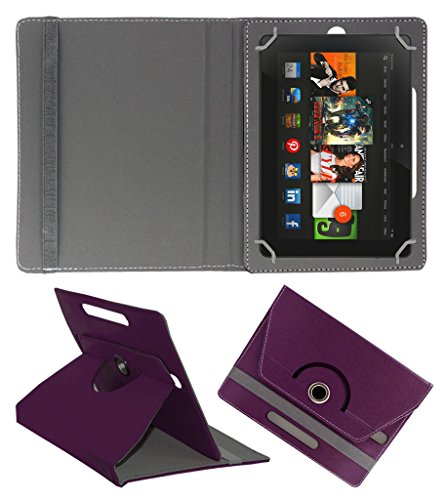 Acm Rotating 360° Leather Flip Case For Amazon Kindle Fire Hdx 8.9 Tablet Stand Cover Holder Purple  available at amazon for Rs.179
