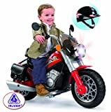 Injusa 6-volt Custom Falcon Motorbike with Play Helmet
