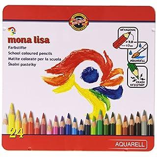 KOH-I-NOOR 3714 Mona Lisa Aquarell Coloured Pencils - Assorted Colour (Set of 24)
