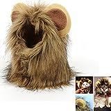 Haustier Kostüm Löwenmähne Perücke Cosplay für Hunde Katze Halloween Karneval mit Ohren