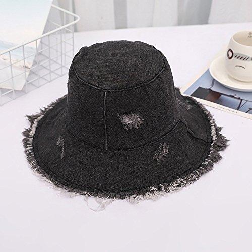 MC Hut Sommer Hut, Sun Cap Freizeit Student Bucket Hat Portable grobe Selvedge Beach, 5 Farben Optional Schirmmütze (Color : Brown)