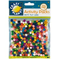 Craft Planet - Set de pompones (7 mm, 9 g), multicolor