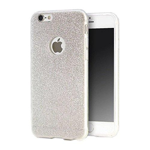 Bling Bling Glitzer Handy Hülle Schutzhülle Soft Case für Apple IPhone 5/5S Rosegold Silber