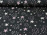 Fitzibiz Sweatstoff All Over Rock von Hilco, Sterne, rosa