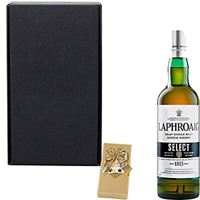 Laphroaig Select Single Malt Scotch Whisky Fathers Day Gift Set With Handcrafted Gifts2Drink Tag