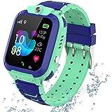GPS Reloj Smartwatch para niños, impermeable GPS Rastreador Reloj anti-perdida de teléfonos inteligentes SOS, llamada bidirec