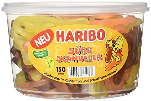 Haribo Süße Schnuller 150 Sück Runddose, 3er Pack (3 x 1.05 kg)