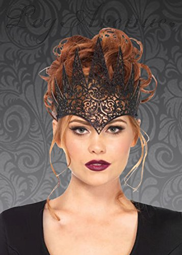Womens Gothic böse Königin Black Crown