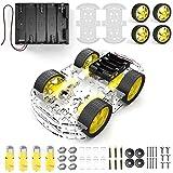 diymore 4 Rad Roboter Chassis Smart Auto mit Geschwindigkeit und Tacho Encoder mit Batterie Box für Arduino Raspberry Pi Roboter DIY Kits