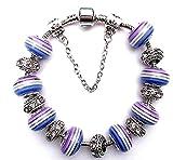 Lizes DIY Halskette Sicken Sets DIY gestreiftes großes Loch Perlen handgemachte Perlen Armband