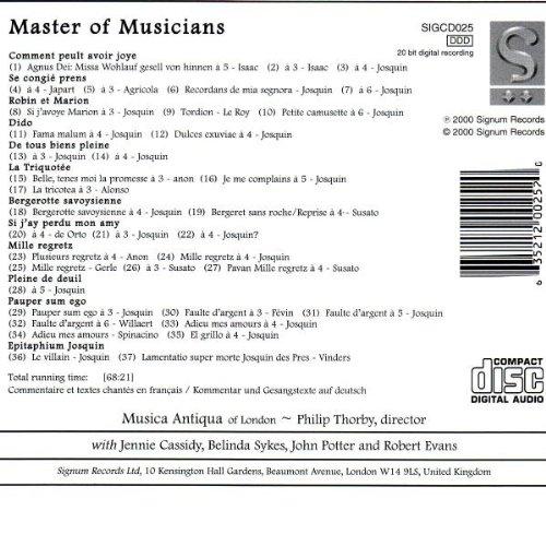 Josquin des Prés : Master of Musicians