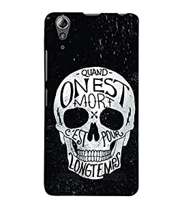 Fuson Premium Back Case Cover Designed Skull With Red Background Degined For Lenovo A6000 Plus