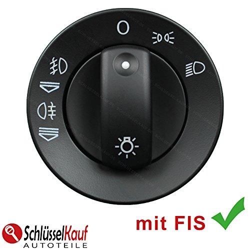 Preisvergleich Produktbild Auto Lichtschalter Scheinwerferschalter für Audi A4 B6 B7 NUR 8E0941531A mit FIS Neu