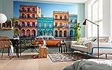 Komar Xxl4-106,7cm Havanna'Cuba Scenic Affiche murale papier peint-Orange/Bleu/Jaune/Rose/gris
