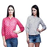 Mallory Winston Pink Polka Dots And Whit...