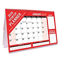 The Home Fusion Company 2019 Freestanding Flip Calendar Month To View Desktop Planner Notes