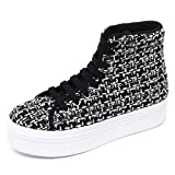 Jeffrey Campbell D2194 Sneaker Donna HOMG Tweed Bianco/Nero Shoe Woman [40]