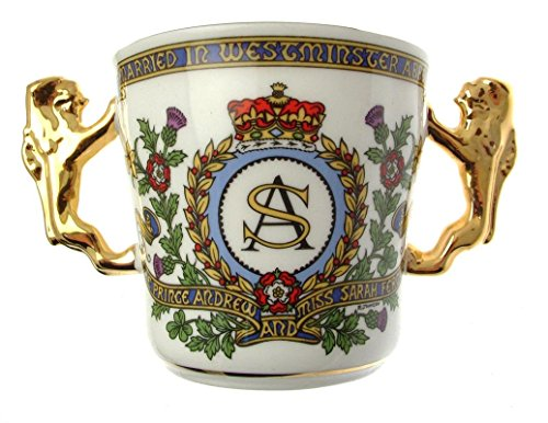 Royalty GEDENKMÜNZE Royal Becher Prince Andrew Sarah Ferguson Ehe 1986 -