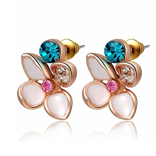 yc-top-unique-flower-18k-rose-gold-plated-cubic-zirconia-fashion-lady-stud-earrings