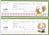 Inviti Alle Feste Blocchetto Prima Comunione 7,5x23centimetri 20Pz