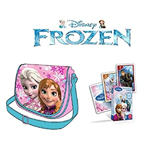 Mochila Frozen + Juego de 25 Cartas Frozen