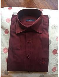 BURBERRY Camicia Uomo Manica Lunga Colore BORDEAUX TAGLIA .M