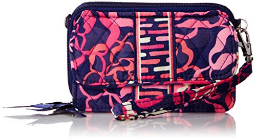 Vera Bradley All In One Crossbody Wallet, Katalina Pink, One Size